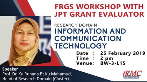 UNITEN - FRGS 2019-1 Workshop with Head of Research Domain